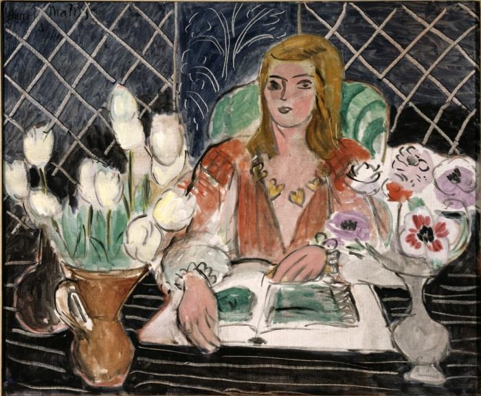 Annelies, White Tulips, and Anemones