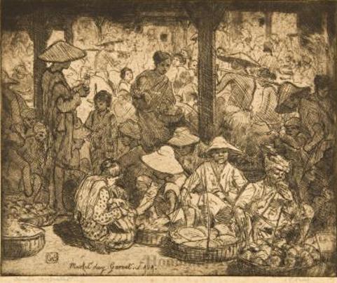Market Day. Garoet. Java.