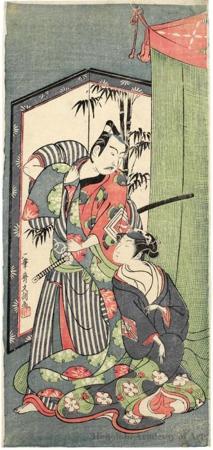 The Kabuki actors Ichikawa Yaozö II and the Onnagata Nakamura Matsue I